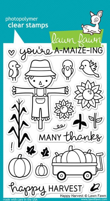 LF0971 ~ HAPPY HARVEST ~ CLEAR STAMPS BY LAWN FAWN